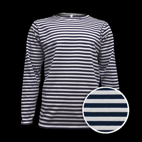 Pruhované tričko dlouhe Bílo-Modré AF - pánské