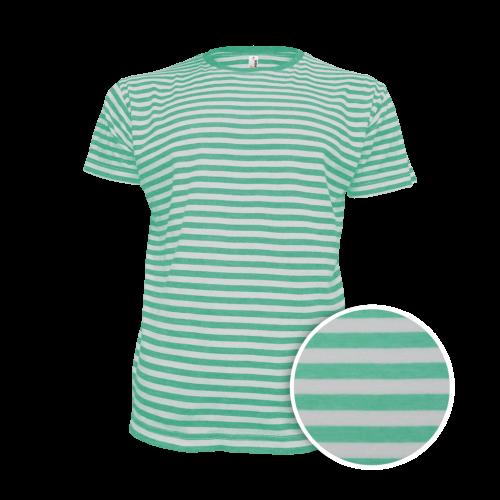 Pruhované tričko Bílo-Zelené AF- pánské