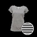Pruhované tričko Bílo-černé AF - dámské