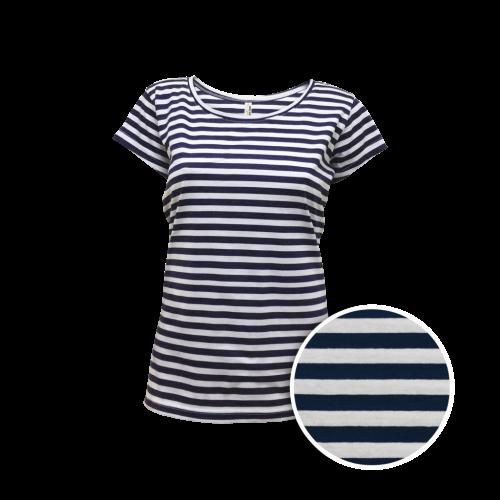 Pruhované tričko Bílo-Modré AF- dámské