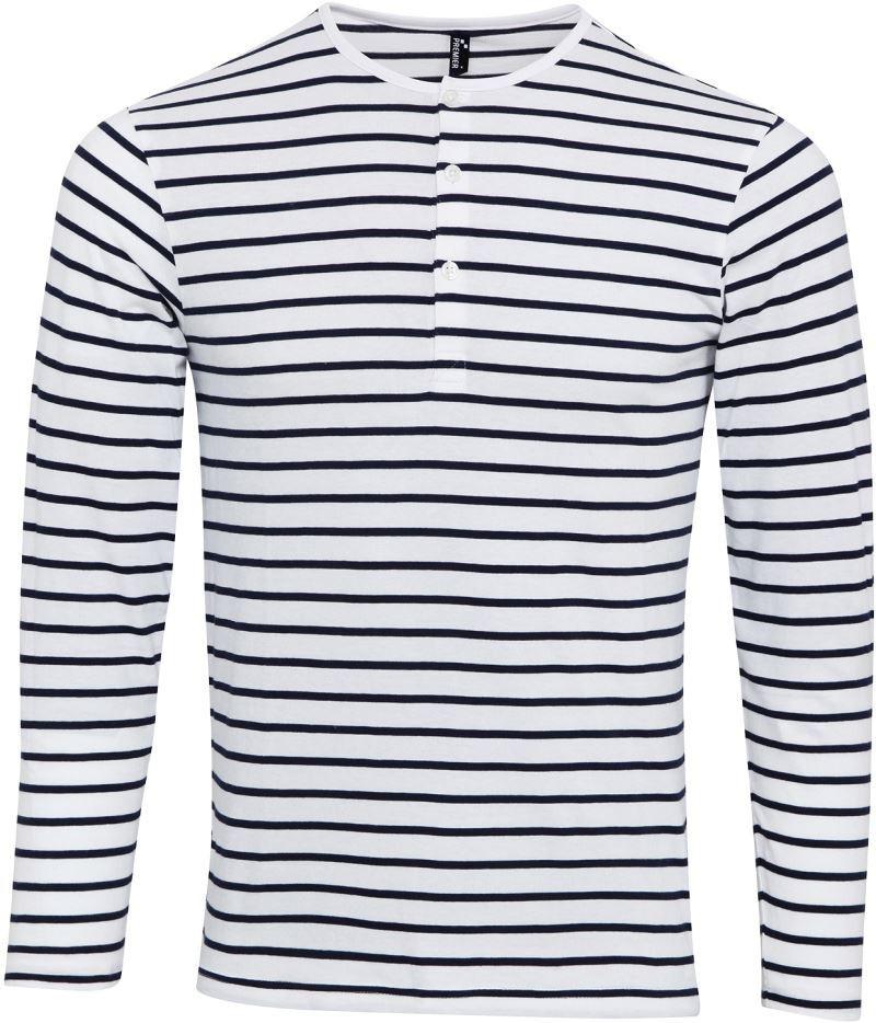 f8f1bd83d69b Vodácké námořní pruhované tričko pánské dlouhé