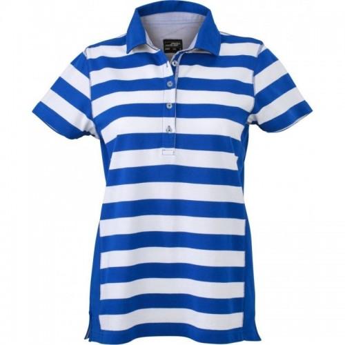 Pruhované tričko Bílo-světle modré James & Nicholson - dámské